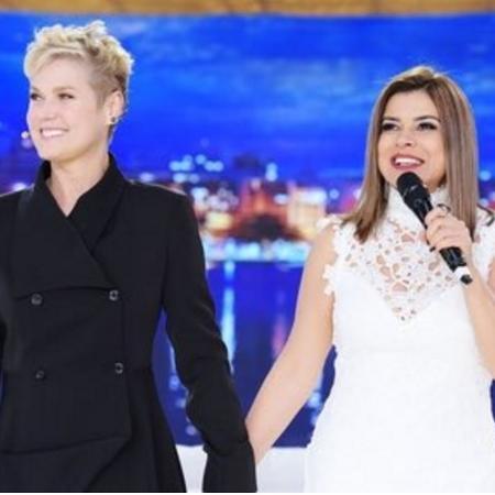 Xuxa recebeu Mara em seu programa em 2016 - Reprodução /TV Record