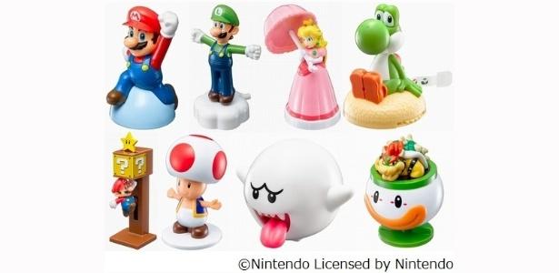 """McLanche Feliz terá bonecos de """"Super Mario""""; na versão japonesa da promoção havia oito brindes da série de jogos - Reprodução"""