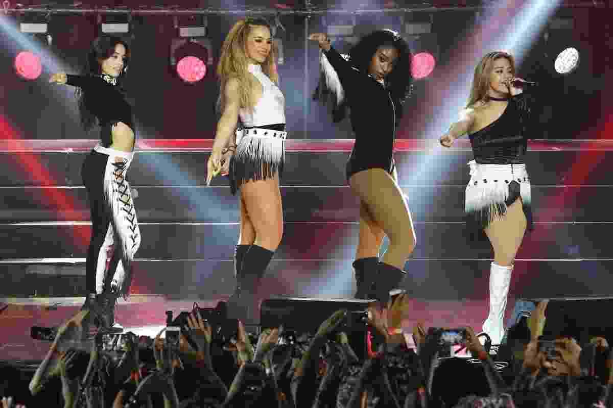 14.dez.2016 - A banda Fifth Harmony se apresentou desfalcada no Brasil - Manuela Scarpa/Brazil News