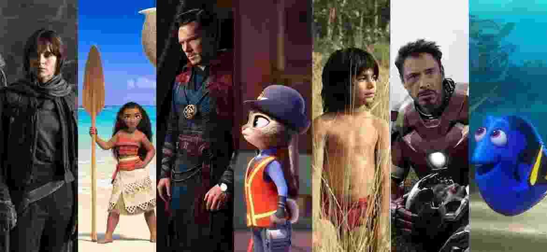Em 2016 a Disney bateu o recorde de arrecadação anual de bilheterias, conquistando US$ 7 bilhões globalmente. Vários lançamentos contribuíram para o número impressionante, mas existem 7 títulos que brilharam mais do que os outros nas bilhetrias mundo afora. Alguns deles contribuíram sozinhos com US$ 1 bilhão para a cifra. Veja a seguir os filmes recordistas do estúdio neste ano - Montagem sobre Divulgação