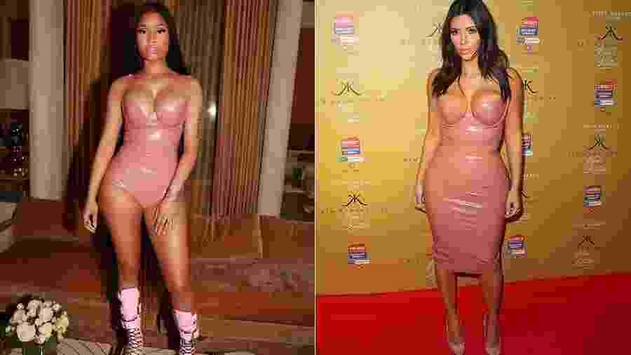 Nicki Minaj e Kim Kardashian - Reprodução/Instagram e Getty Images