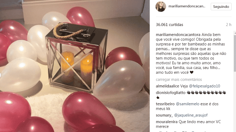 Marilia Mendonça ganha surpresa - Reprodução - Reprodução