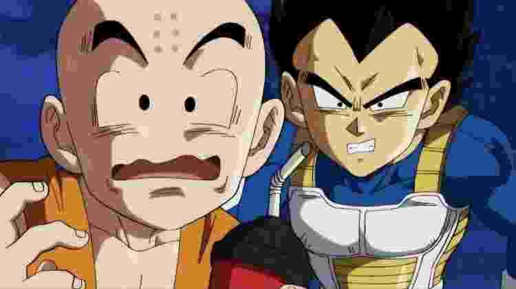 """O texto a seguir contém revelações sobre o enredo de """"Dragon Ball Super"""". Se não quiser se assustar como o Kuririn e o Vegeta, é melhor dar meia-volta - Reprodução"""