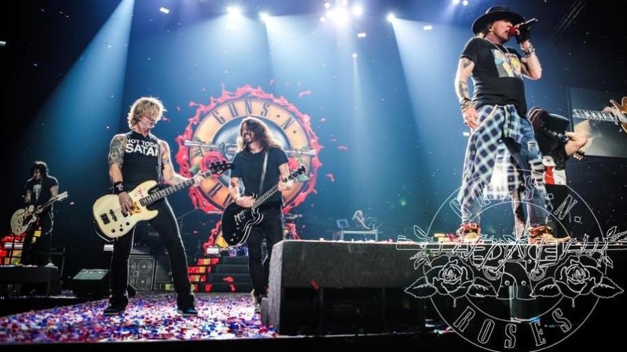 """Dave Grohl dá canja em show do Guns N"""" Roses - Reprodução"""