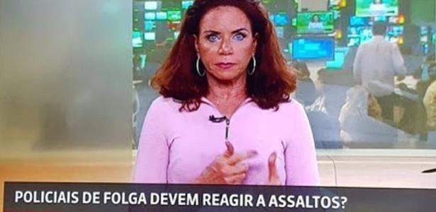 Apresentadora da Globo News faz desabafo após enquete sobre PMs que reagem a assaltos