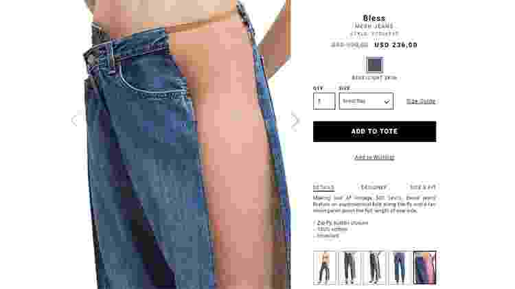 Jeans com transparência lateral - Reprodução - Reprodução