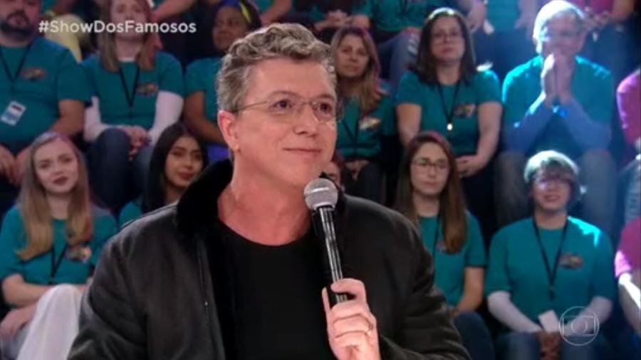 """Melhor homenagem do """"Show dos Famosos"""" é Boninho como Pedro de Lara - Reprodução/TV Globo"""