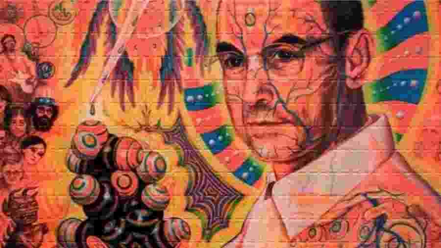 Um retrato do químico suíço Albert Hoffman, que acidentalmente descobriu as propriedades alucinógenas do LSD em 1943  - Getty Images