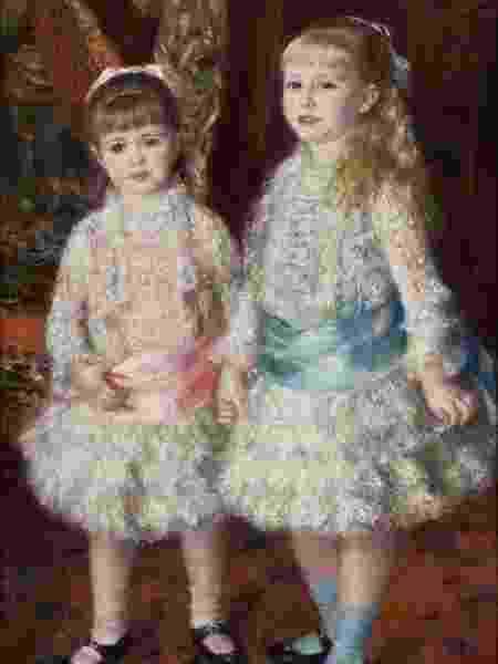 """""""Rosa e Azul"""" de Pierre-Auguste Renoir - Reprodução"""