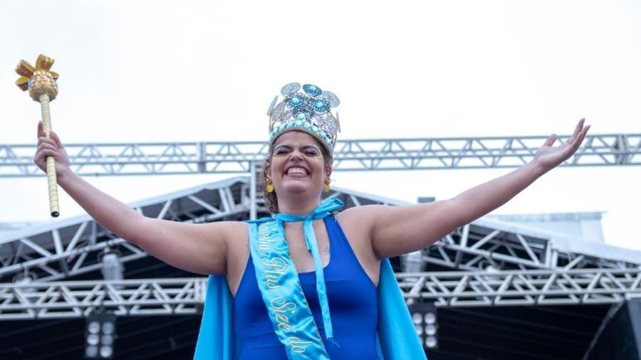 Renata Donato foi eleita Rainha Plus Size do Carnaval do Recife - Brando Nascimento/Divulgação