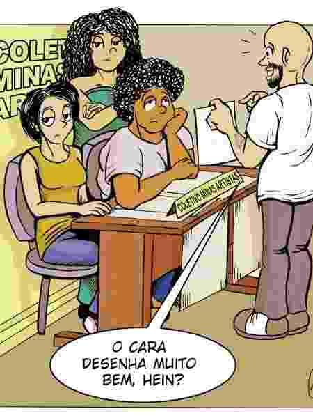Quadrinho de Cris Camargo sobre machismo contra as artistas - Reprodução/Cris Camargo