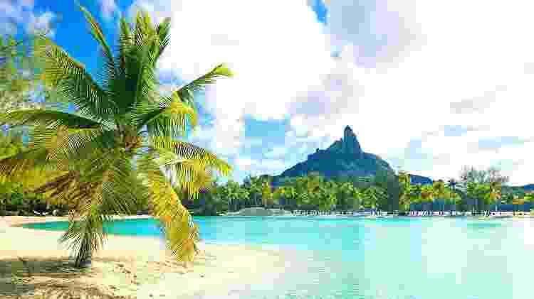 Cenário paradisíaco de Bora Bora, na Polinésia Francesa - iStock - iStock