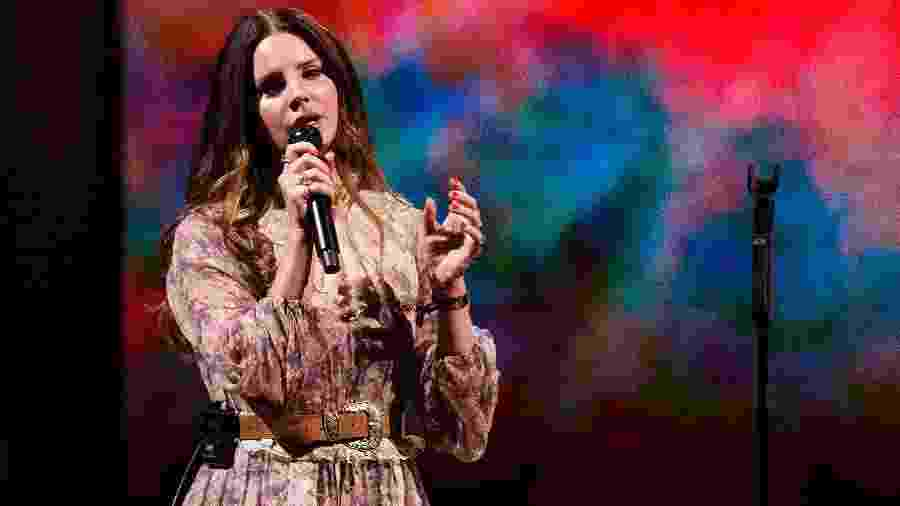 A cantora americana Lana Del Rey, um dos destaques do Lollapalooza 2019 - Andrew Chin/Getty Images