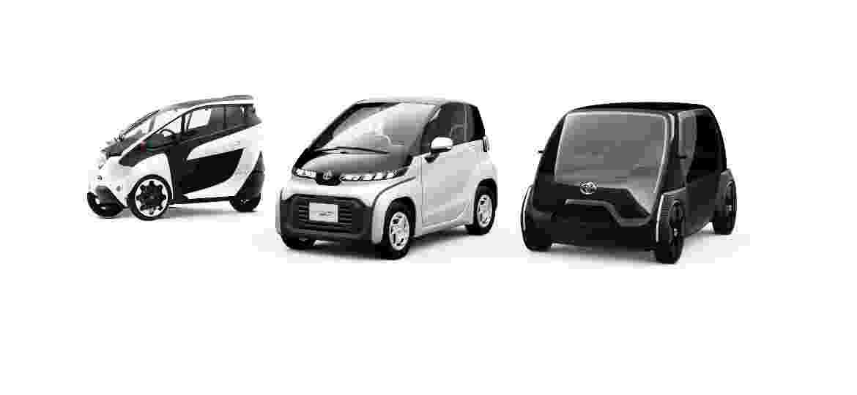 Triciclo, subcompacto e veículo comercial elétricos dão uma prévia do futuro projetado pela Toyota - Divulgação