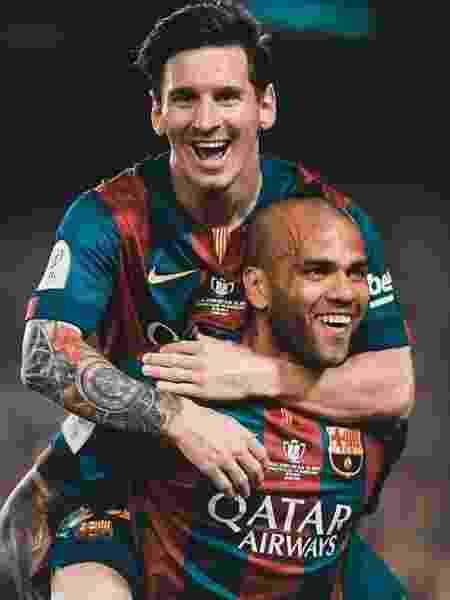 Dani Alves e Messi no Barcelona - Reprodução/Instagram