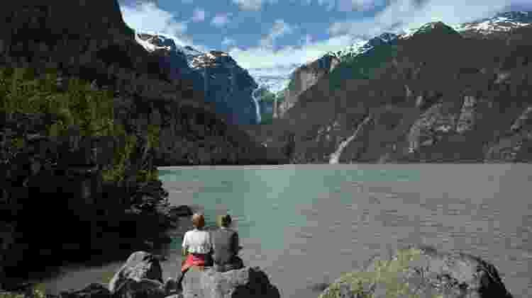 Ventisquero Colgante, glacial suspenso no Parque Nacional Queulat, na Patagônia chilena - Jaime Bórquez/Divulgação - Jaime Bórquez/Divulgação