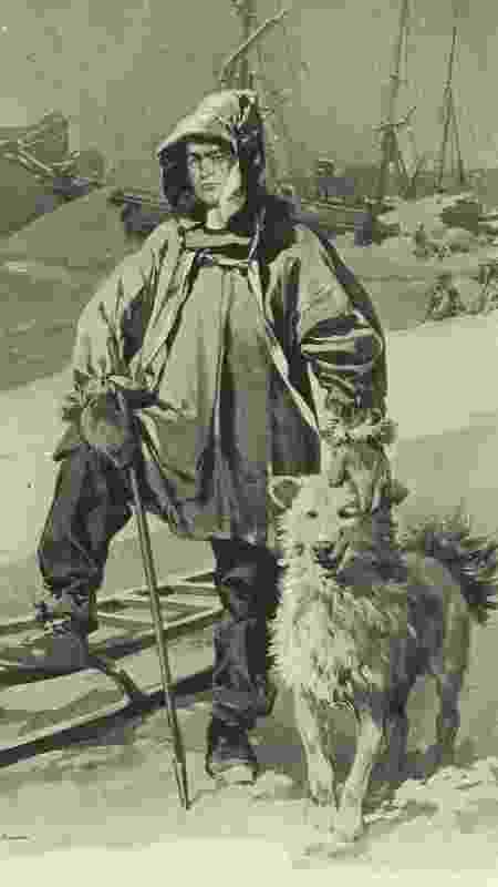 O explorador Sir Ernest Shackleton, em ilustração da época - The LIFE Picture Collection - The LIFE Picture Collection