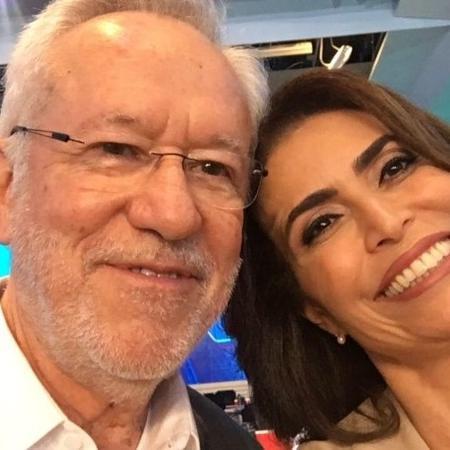 Alexandre Garcia e Giuliana Morrone - Reprodução/Instagram