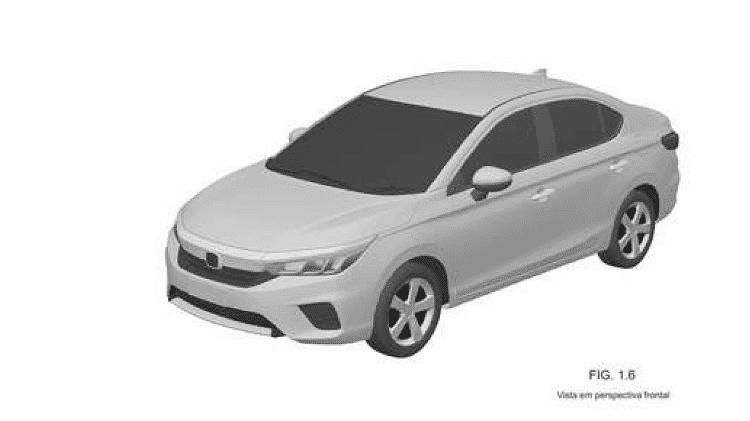 Novo Honda City 2021 Registro INPI - Reprodução - Reprodução