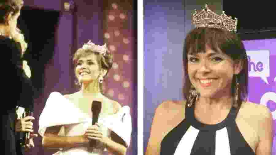 Leanza Cornett em 1993 (à esq.), quando venceu o Miss America, e em 2015 - Reprodução/Instagram