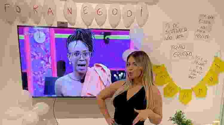 BBB 21: Marília Mendonça decora a casa para eliminação de Nego Di - Reprodução/Globoplay - Reprodução/Globoplay
