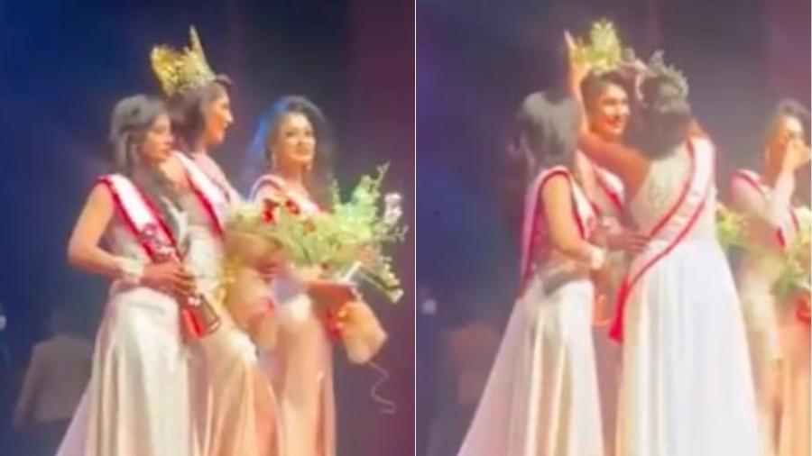 Concurso de Miss Sri Lanka acaba em confusão ao vivo - Reprodução/Daily Mail