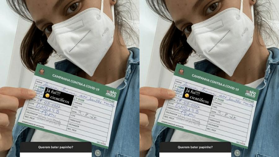 Laura Neiva revela que já foi vacinada contra a covid-19 - Reprodução/Instagram