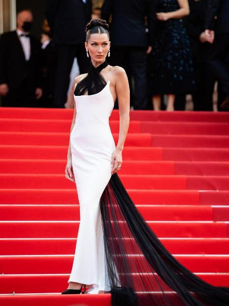 Bella Hadid no Festival de Cannes deste ano - Getty Images