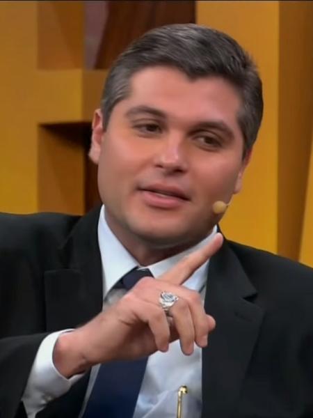 """Joel Datena dá entrevista a Rafinha Bastos no """"Agora É Tarde"""" - Reprodução/Band"""