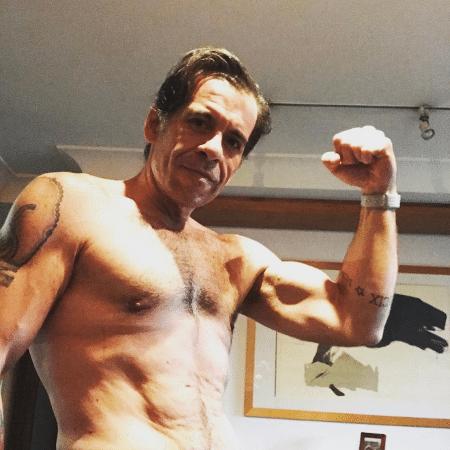 Leandro Hassum posou sem camisa - Reprodução/Instagram/leandrohassum