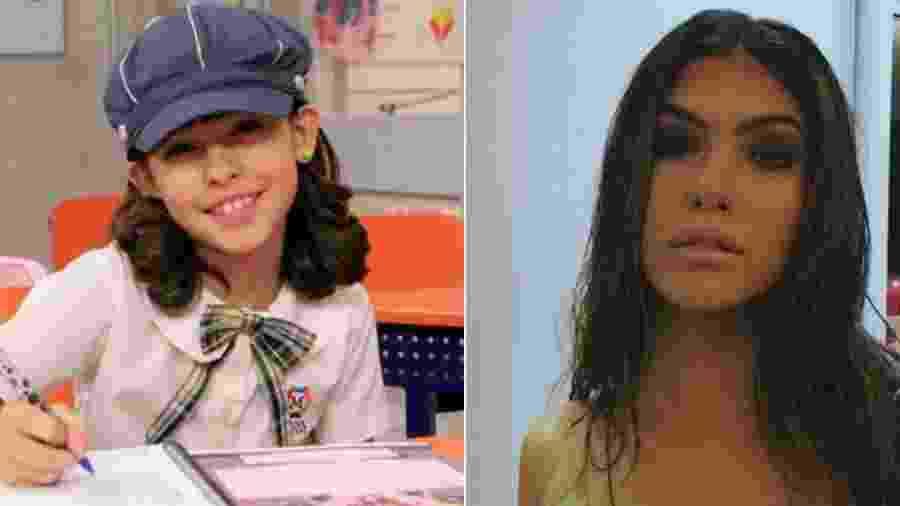 """Fernanda Concon em """"Carrossel"""" (2012) e atualmente - Divulgação/SBT/Reprodução/Instagram"""