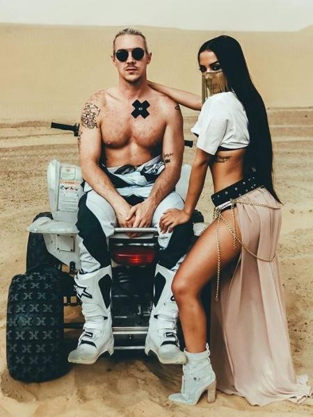 """Anitta e Diplo nas gravações de """"Sua Cara"""" - Reprodução"""