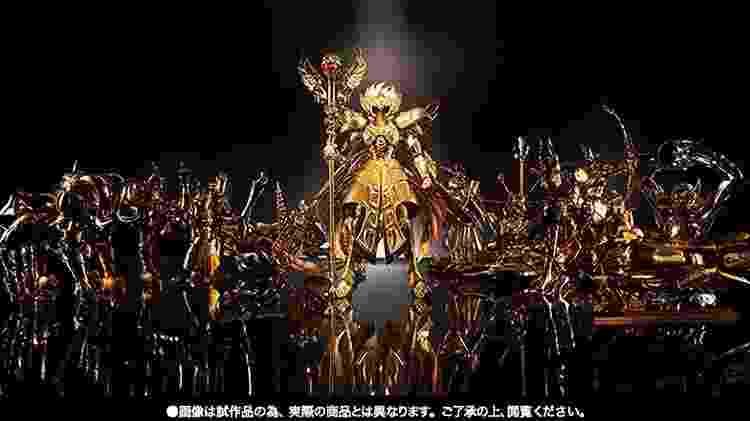 Boneco do Cavaleiro de Ouro de Serpentário é da categoria OCE (Original Color Edition) e tem o tom de dourado do mangá, não o do desenho animado - Divulgação