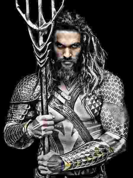"""Jason Momoa como Aquaman em """"Liga da Justiça"""" - Reprodução"""