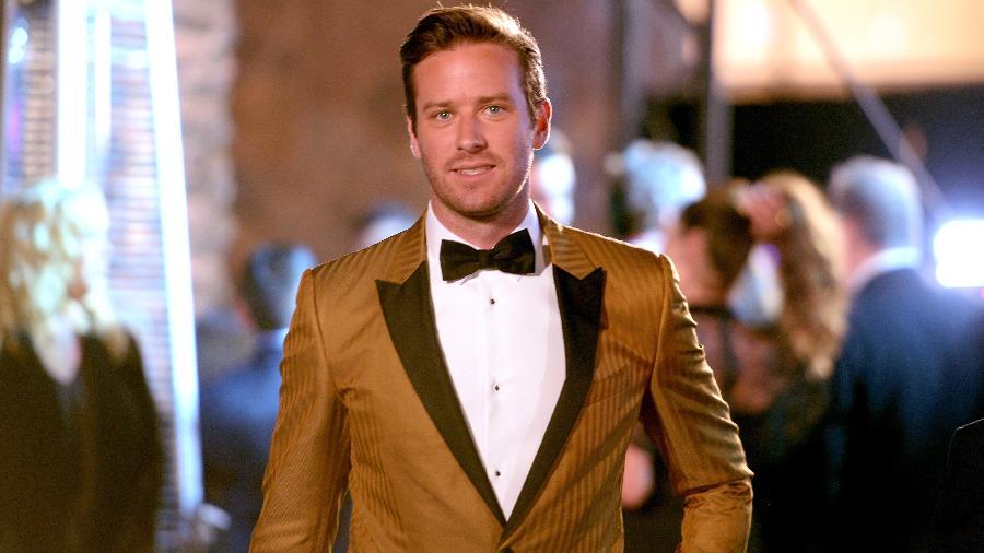 O ator Armie Hammer no Festival de Cinema de Palm Springs, em 2018 - Getty Images