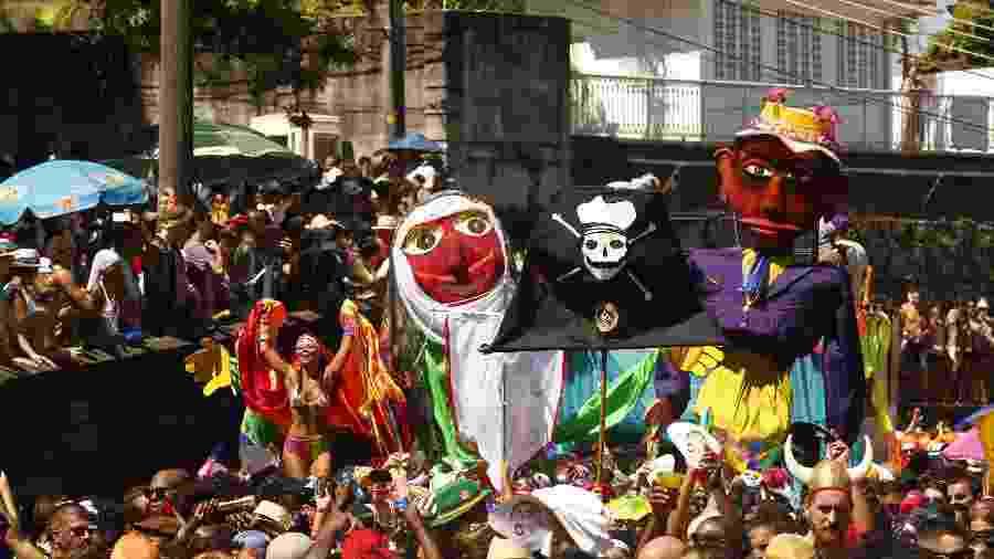 Bloco das Carmelitas anima foliões no Rio de Janeiro - Marcelo de Jesus/UOL