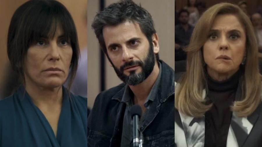 """Os três julgamentos de """"O Outro Lado do Paraíso"""" foram praticamente iguais - Reprodução/Globo/Montagem UOL"""