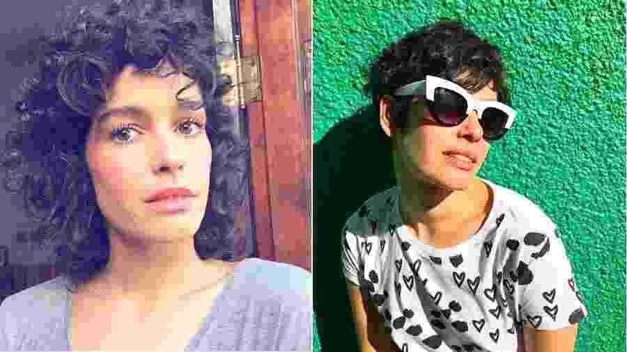 Maria Flor antes e depois de cortar os cabelos - Reprodução/Instagram
