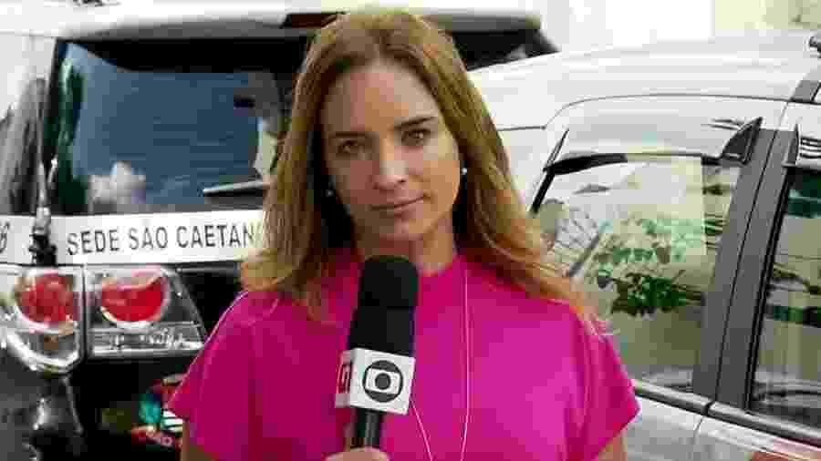 A repórter Veruska Donato, da Globo - Reprodução/TV Globo