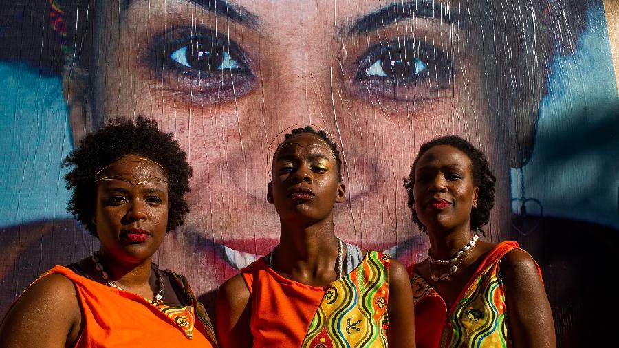 Bloco afro Ilu Inã desfila na região central de São Paulo - Edson Lopes Jr./UOL