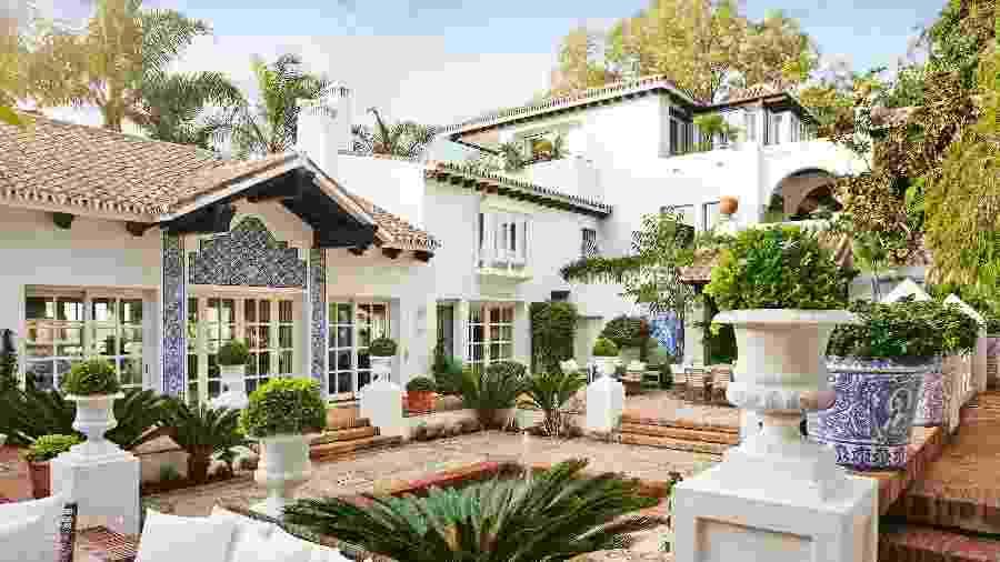 Vista de um dos ambientes do Villa del Mar, em Marbella - Belen Arriaza/Marbella Club Hotel