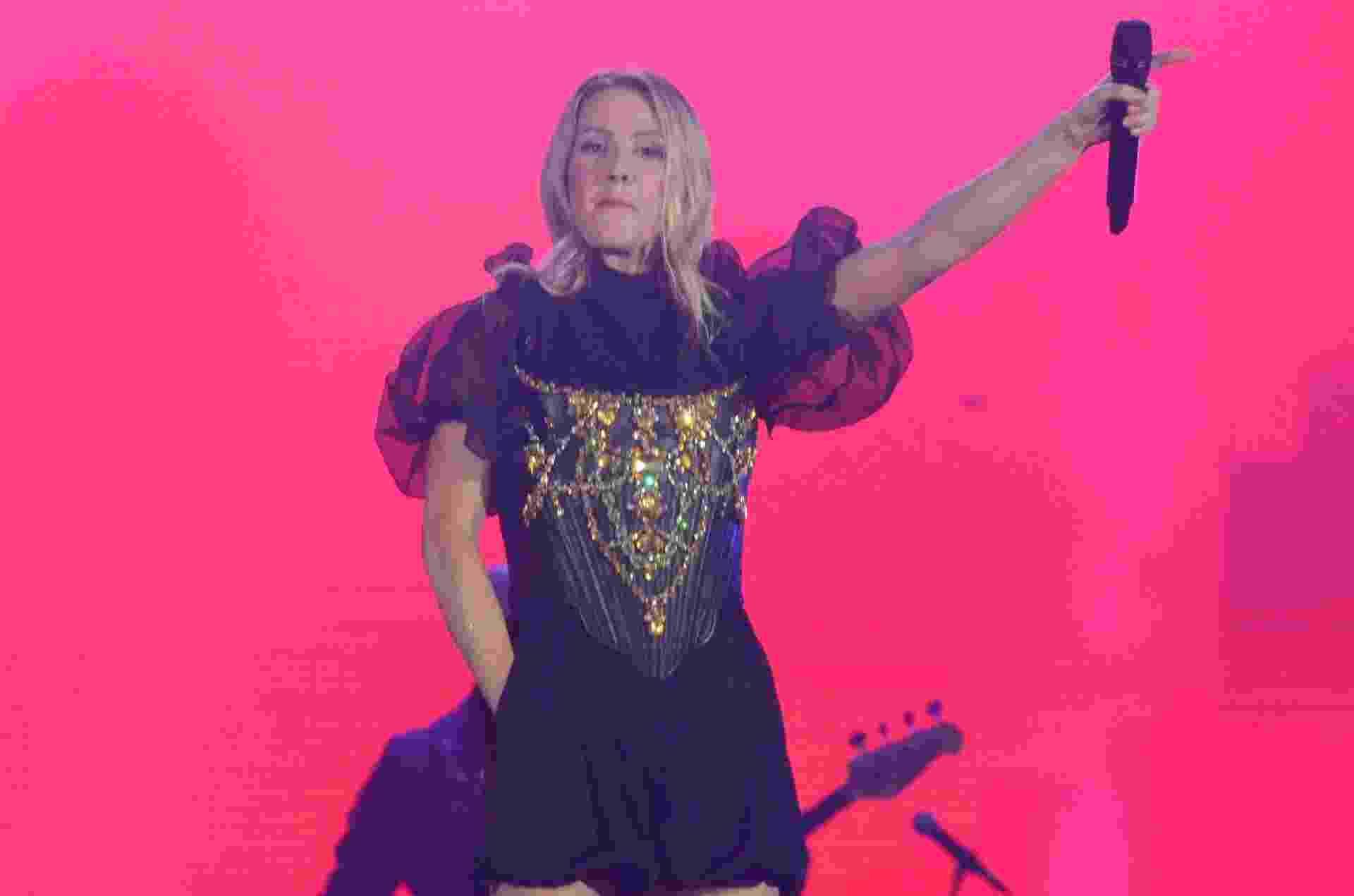 Cantora Ellie Goulding seu apresentou no palco Mundo, no primeiro dia do festival Rock in Rio - Adriano Ishibashi/FramePhoto/Estadão Conteúdo