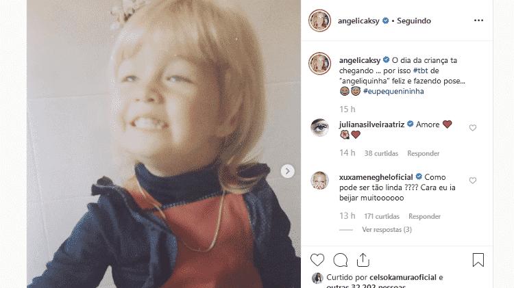 Xuxa comenta post de Angélica - Reprodução/Instagram