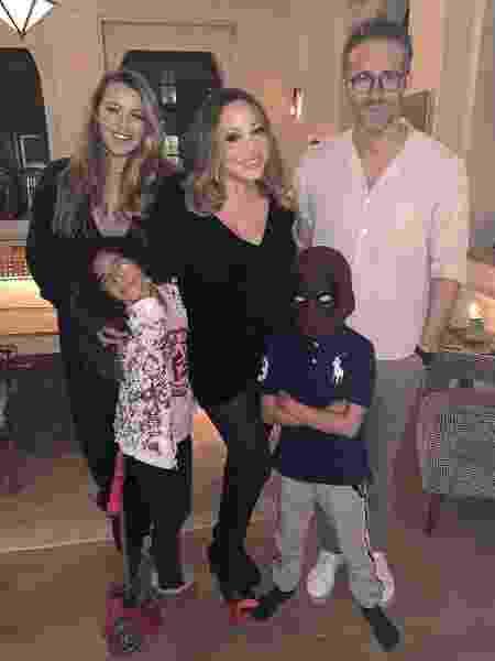 Mariah Carey e os filhos com Ryan Reynolds e Blake Lively - Reprodução/Instagram