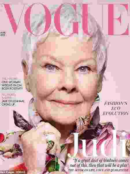 Judi Dench é capa da Vogue UK - Reprodução / Vogue UK