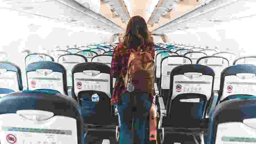 """O risco de a covid-19 se disseminar em voos parece ser """"muito baixo"""", mas não pode ser descartado - Getty Images"""