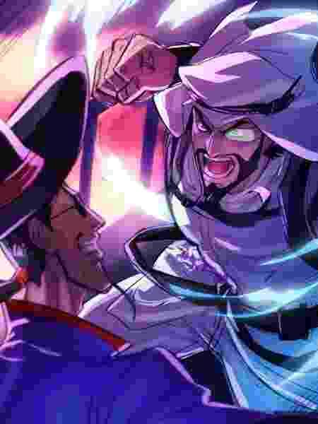 Rashid Street Fighter V - Divulgação/Zerochan  - Divulgação/Zerochan