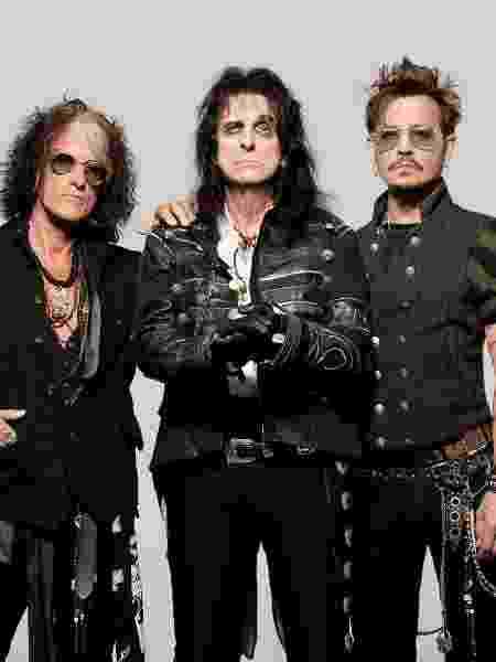 Joe Perry, Alice Cooper e Johnny Depp - Ross Halpin - Ross Halpin