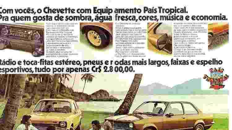 Chevette País Tropical Rafael Finardi propaganda anúncio - Arquivo pessoal - Arquivo pessoal