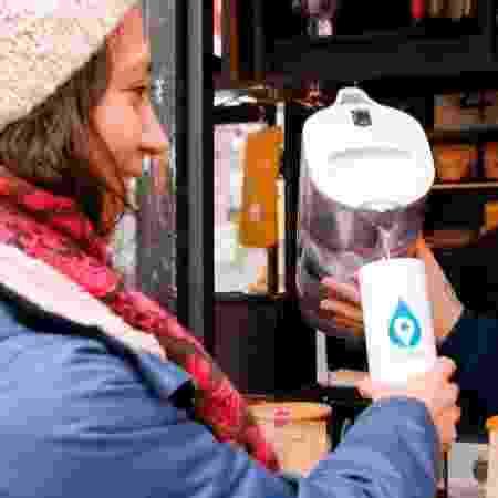Posto de reabastecimento de água do MyMizu - MyMizu.com